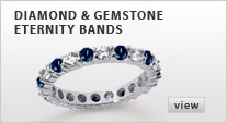 Diamond & Gemstone Eternity Bands