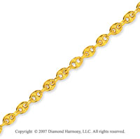 14k Yellow Gold Stylish Fashionable Ankle Bracelet