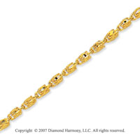 14k Yellow Gold Modern Glamour Fashion Ankle Bracelet