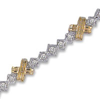 14k Two Tone Gold 1 1/5 Carat Diamond Fashion Bracelet