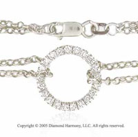 14k White Gold 1/4  Carat Circle of Life Diamond Bracelet
