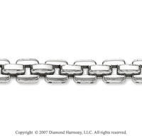 Classic Style 1/4 inch Men's Stainless Steel Bracelet