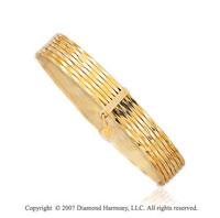 14k Yellow gold Fine Elegance 10.00mm Slip-on Bangle