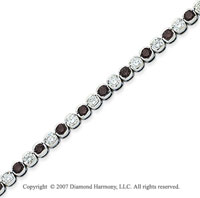 14k White Gold Fine 7.10 Carat Black Diamond Bracelet