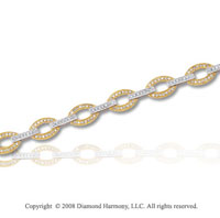 1 Carat Diamond 14k Two Tone Gold Fashion Bracelet