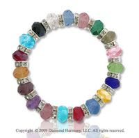 Fashionable Multi Color Faceted Crystal Bracelet