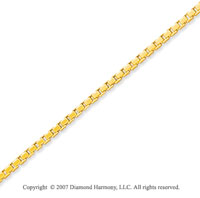 14k Yellow Gold Stylish Sexy 1.10mm Classic Box Chain