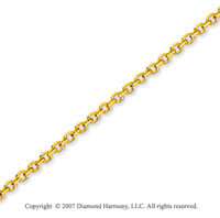 14k Yellow Gold Stylish Sexy 1.10mm Cable Link Chain