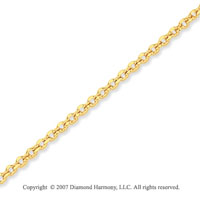 14k Yellow Gold Stylish Sexy 1.50mm Cable Link Chain
