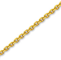14k Yellow Gold Stylish Medium 2.30mm Cable Link Chain