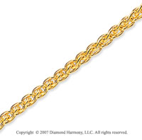 14k Yellow Gold Stylish Wide 2.5mm Round Wheat Chain