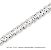 14k White Gold Classic Medium 5.00mm Concave Curb Chain