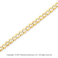 14k Yellow Gold Classic Thin 2.70mm Concave Curb Chain