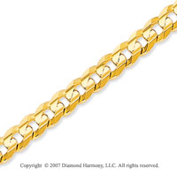 14k Yellow Goldold Classic Medium 5.00mm Concave Curb Chain