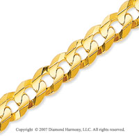14k Yellow Gold Classic Wide 7.00mm Concave Curb Chain