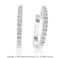 1/2  Carat 14k Diamond Huggie Earrings