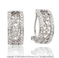 1/2  Carat Diamond Pave Vintage Inspired Earrings