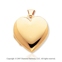 14k Yellow Gold Four Fold Heart Locket