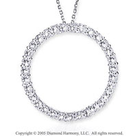 14k White Gold 2.00 Carat Diamond Circle of Life Pendant