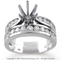 14k White Gold Channel 1.15 Carat Diamond Bridal Set