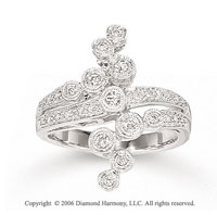 14k White Gold Bouquet 1/3 Carat Diamond Right Hand Ring