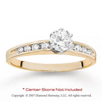 14k Yellow Gold Side Stone Channel Diamond Engagement Ring