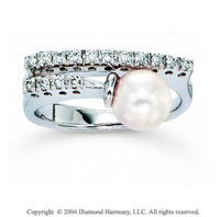 14k White Gold Pearl Prong 0.20 Carat Diamond Ring