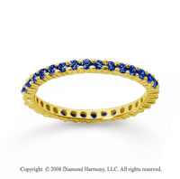 1/2 Carat Sapphire 18k Yellow Gold Round Eternity Band