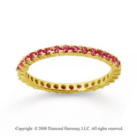 1/2 Carat Ruby 18k Yellow Gold Round Eternity Band