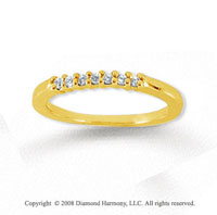 18k Yellow Gold 7 Stone 1/10 Carat Diamond Anniversary Band