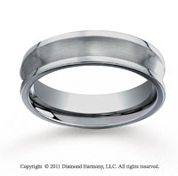 Titanium 6mm Comfort-Fit Satin-Finished Concave Wedding Band