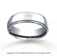Cobaltchrome� 7mm Comfort-Fit High Polished Wedding Band
