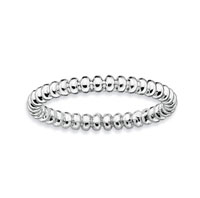 Sterling Silver 2.25mm Beaded Stackable Ring